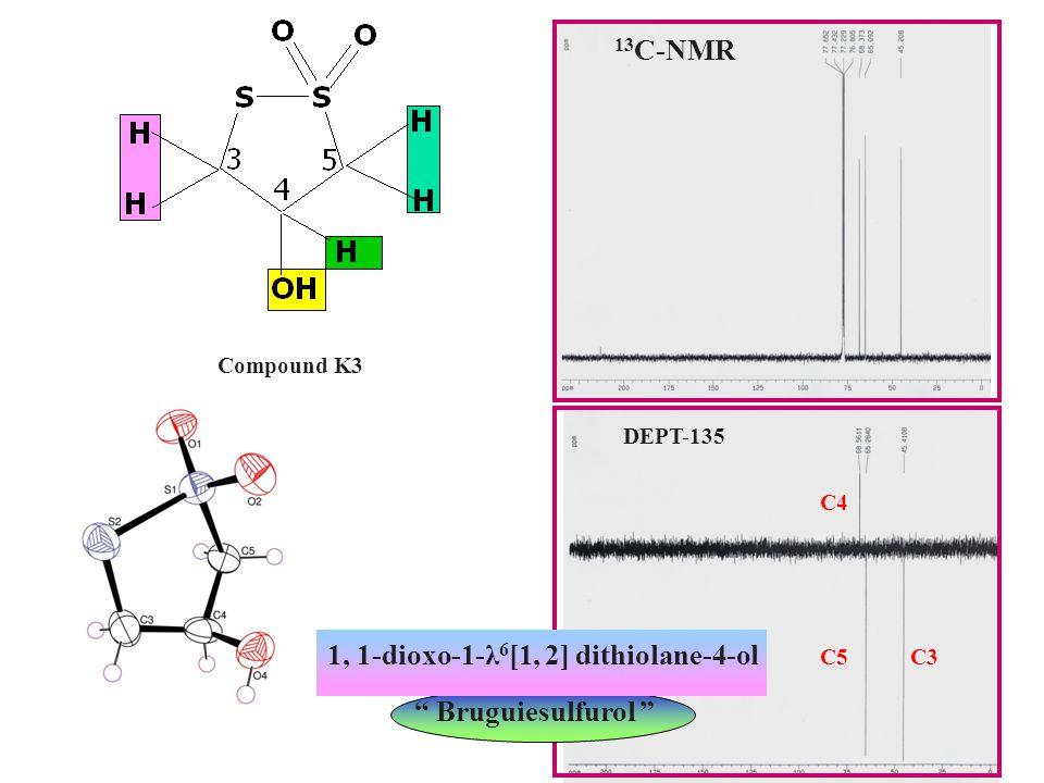 DEPT-135 13C-NMR 1, 1-dioxo-1-λ6[1, 2] dithiolane-4-ol